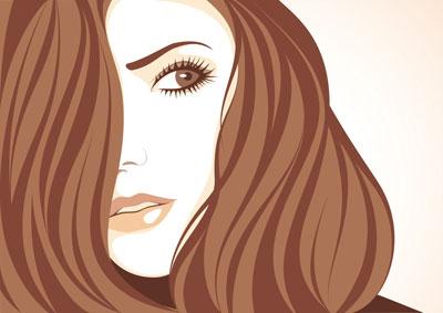 لایه باز وکتور دختر  با موهای بلند (3)