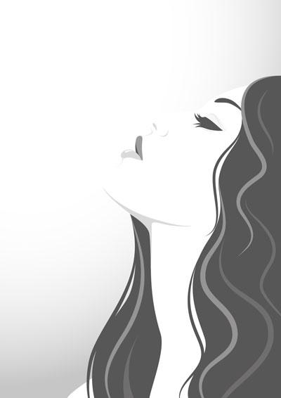 لایه باز وکتور دختر با موهای بلند (4)