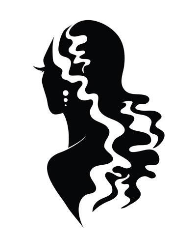لایه باز وکتور دختر با موهای بلند (7)
