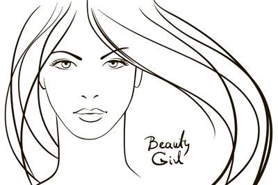 لایه باز وکتور دختر با موهای بلند (9)