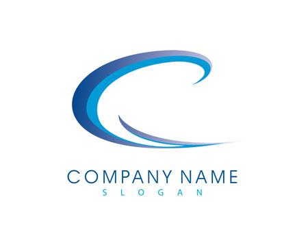 لوگو لایه باز گرافیکی طرح حرف C