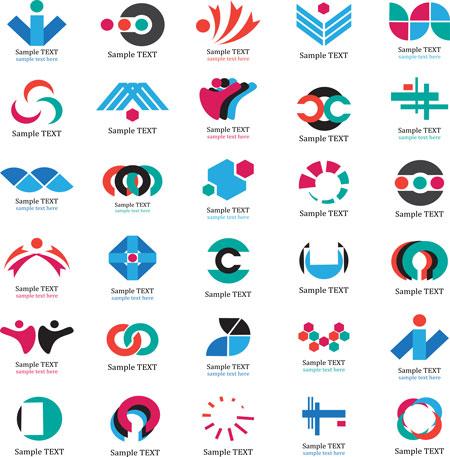 مجموعه لوگو های لایه باز گرافیکی شرکت های تجاری