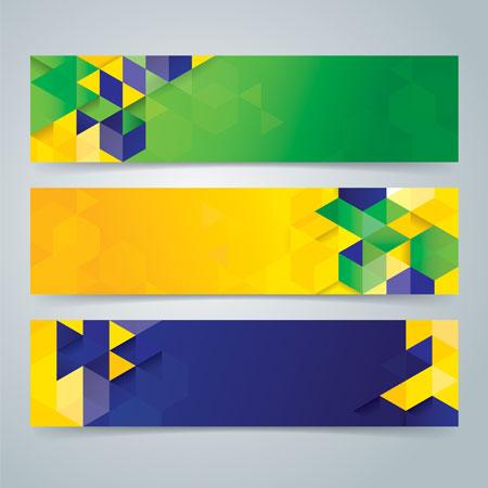 وکتور لایه باز قالب متن با طرای سه بعدی مکعب
