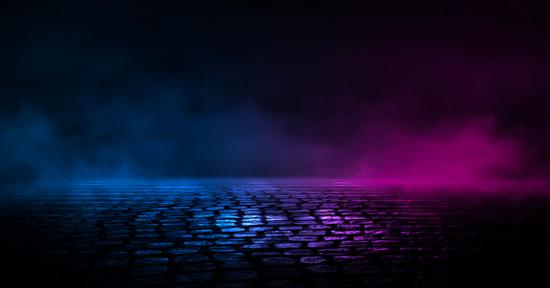 تصویر با کیفیت سنگ فرش و دود آبی و بنفش