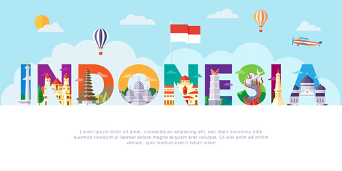 وکتور لایه باز لوگو گردشگری کشور اندونزی