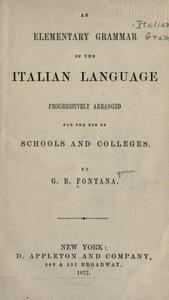 An Elementary of Italian Language