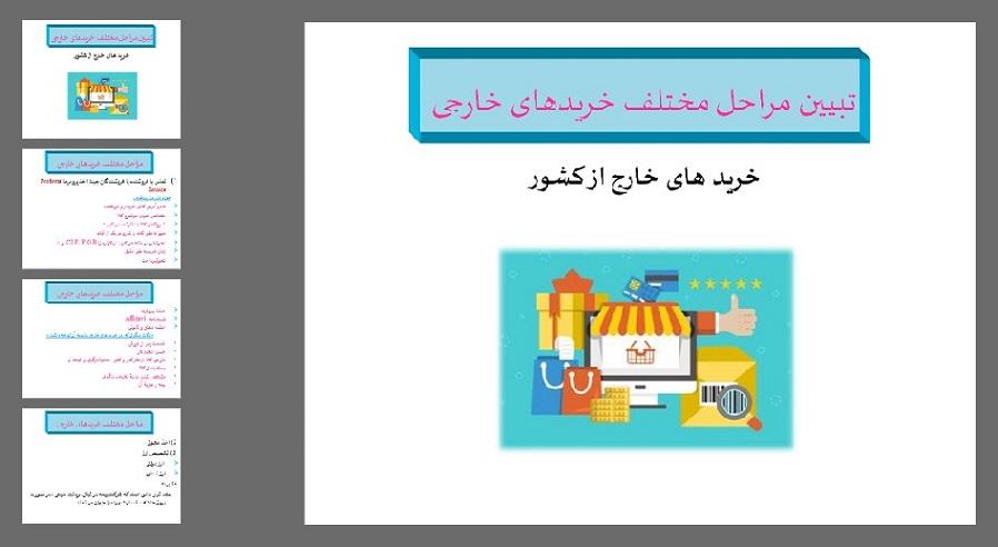 دانلود پاورپوینت تبيين مراحل مختلف خریدهای خارجی