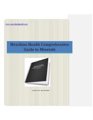 Meschino Health comprehensive Guide to Minerals
