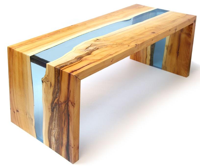 آموزش ساخت میز رزین و چوب (طرح رودخانه)
