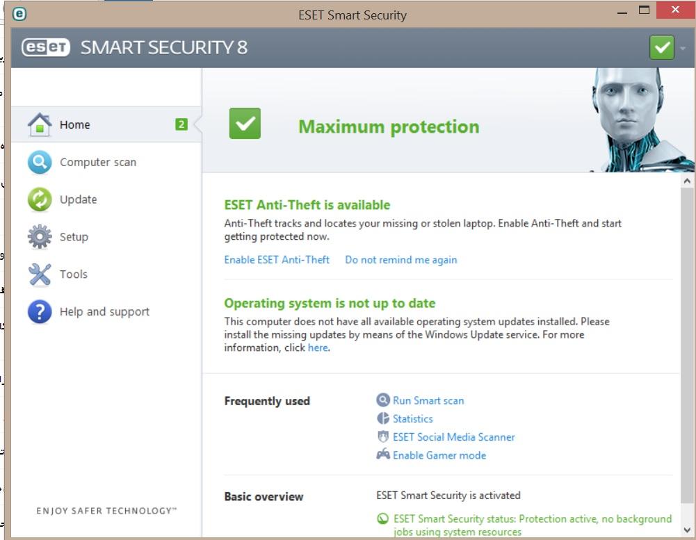 کرک دائمی آنتی ویروس ESET NOD32Smart-Security 8