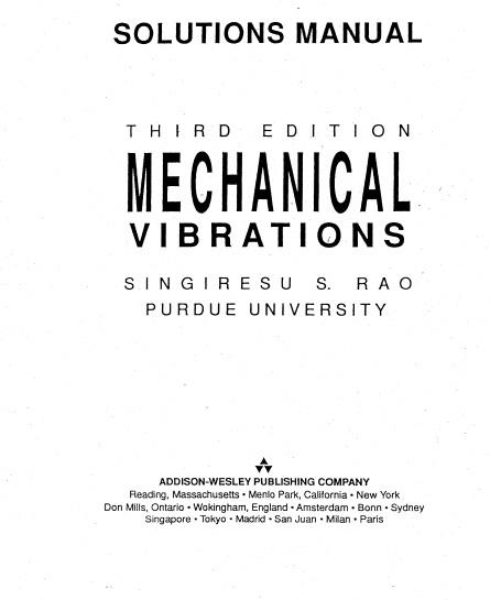 کتاب حل المسائل ارتعاشات رائو (Rao)