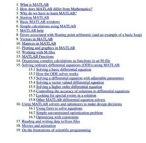 راهنمای مسائل دینامیک و ارتعاشات بوسیله متلب(dynamic and vibration matlab tutorial)