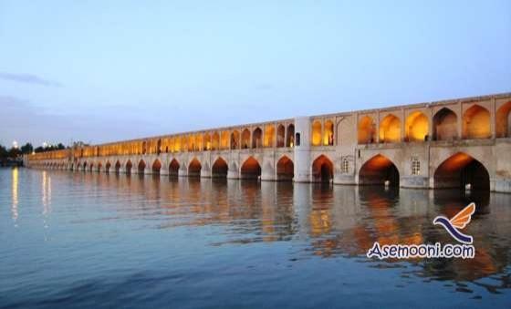 عنوان پاورپوینت: بررسی ۳۳ پل اصفهان      17صفحه