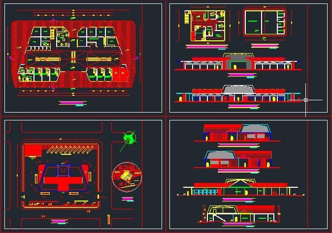 مجموعه نقشه های طراحی ترمینال اتوبوسرانی و مسافربری