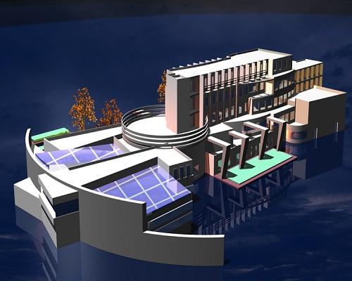 طرح نهایی معماری مرکز آبدرمانی و اقامتگاهی سرعین