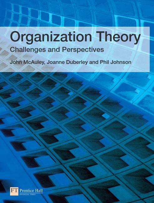متن کامل انگلیسی کتاب_ نظریه سازمان_ جان مک آولی و همکاران_Organization Theory _John McAuley_2007