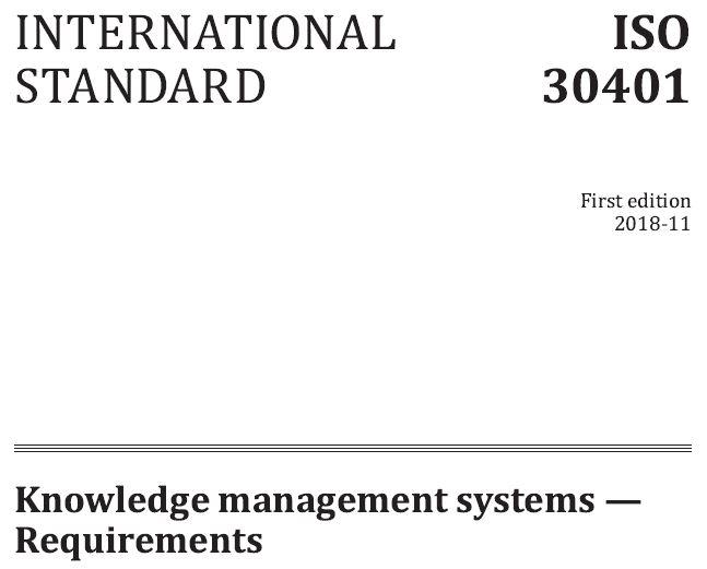 متن کامل انگلیسی _ استاندارد بین المللی ایزو 30401 - سیستم مدیریت دانش _ISO_ 30401 _ 2018_KMS