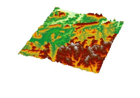 نقشه توپوگرافی منطقه بانه و مریوان