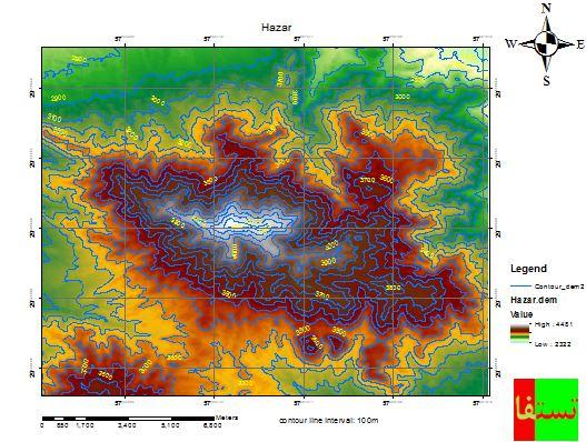 دانلود نقشه توپوگرافی کوه هزار