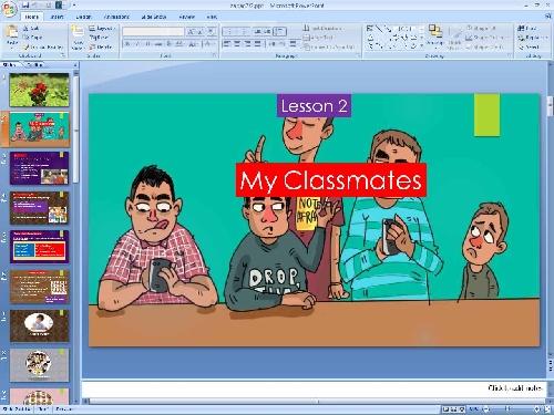 پاورپوینت درس دوم زبان انگلیسی پایه هفتم (My Classmates)