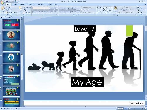 پاورپوینت درس سوم زبان انگلیسی پایه هفتم (My Age)