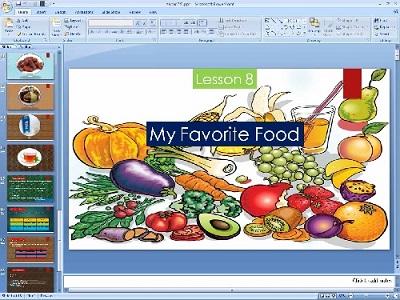 پاورپوینت درس هشتم زبان انگلیسی پایه هفتم (My Favorite Food)