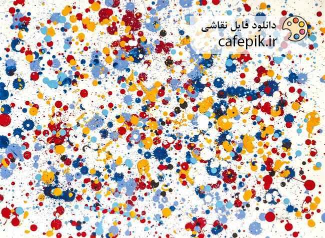 دانلود نقاشی مدرن شماره 43  رنگ افشان پاشیده شده