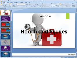 پاورپوینت درس ششم زبان انگلیسی پایه نهم Health and lnjuries