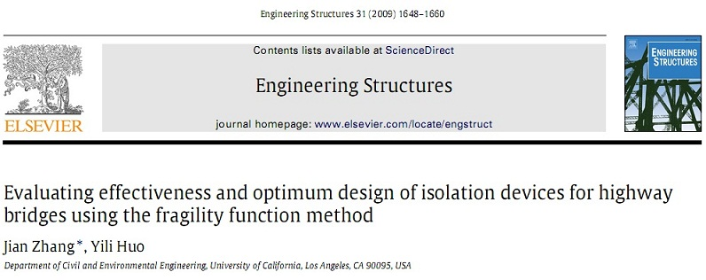 Evaluating effectiveness and optimum design of isolation devices for highway bridges using the fragility function method
