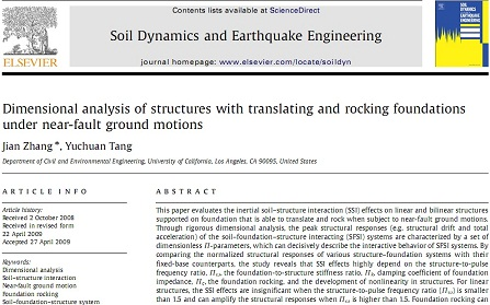 Dimensional analysis of structures with translating and rocking foundations under near-fault ground motions