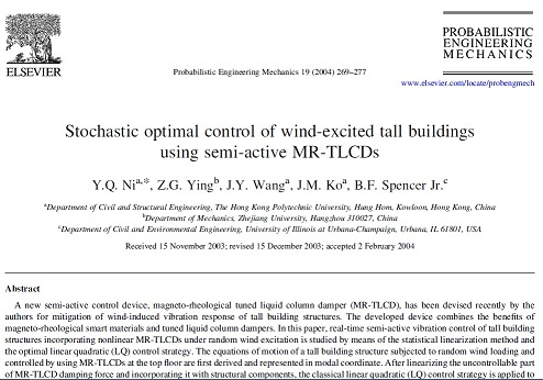 Stochastic optimal control of wind-excited tall buildings using semi-active MR-TLCDs