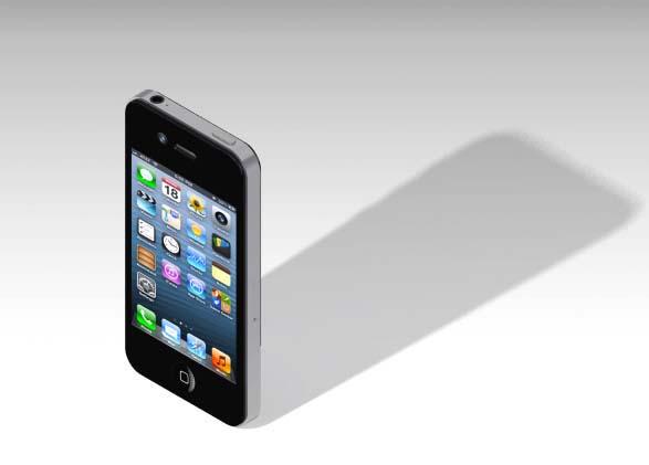 پروژه طراحی iphone 4 در کتیا
