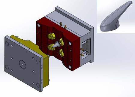 طراحی قالب دایکاست در سالید ورک