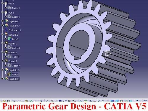 آموزش طراحی چرخ دنده به صورت پارامتریک در محیط فرمولار