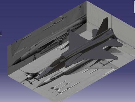 پروژه طراحی هواپیما fc1 در کتیا