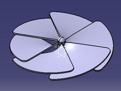 مدل پروانه فن طراحی شده در کتیا
