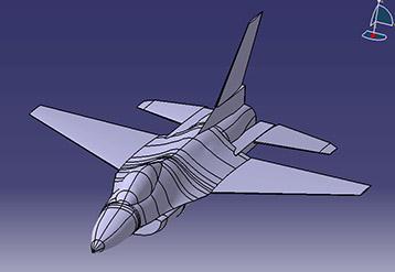 طراحی هواپیما f16 در کتیا