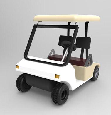 طراحی ماشین گلف در کتیا