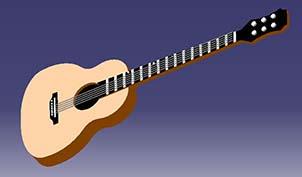 طراحی گیتار در کتیا