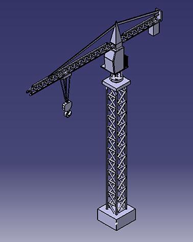 طراحی جرثقیل برج سازی در کتیا