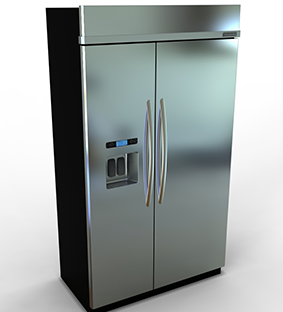 طراحی یخچال ساید بای ساید در سالید