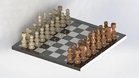 مدل طراحی شده شطرنج در سالیدورک