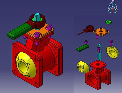پروژه شیر آب (valve) درکتیا