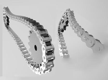 طراحی زنجیر و جرخ زنجیر در سالیدورک