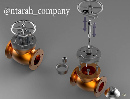 طراحی stop-valve در سالیدورک