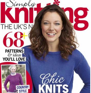 مجله بافتنی Simply Knitting سپتامبر ۲۰۱۵