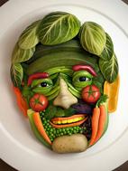 ابتكارات زيبا براي تزيين غذا و سالاد