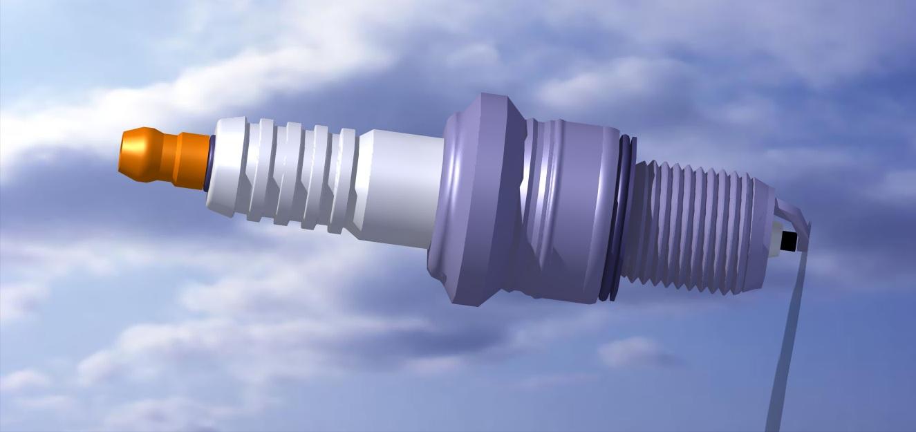 مدل واقعی شمع تک پر موتور اتومبیل