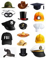 دانلود وکتور 20 مدل مختلف کلاه png