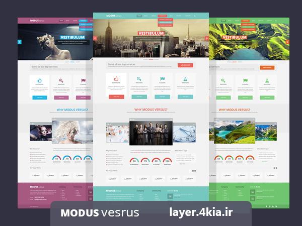 پکیج طراحی کامل وب سایت با فوتوشاپ